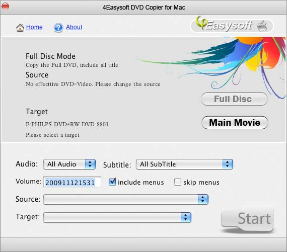4Easysoft DVD Copier for Mac screenshot