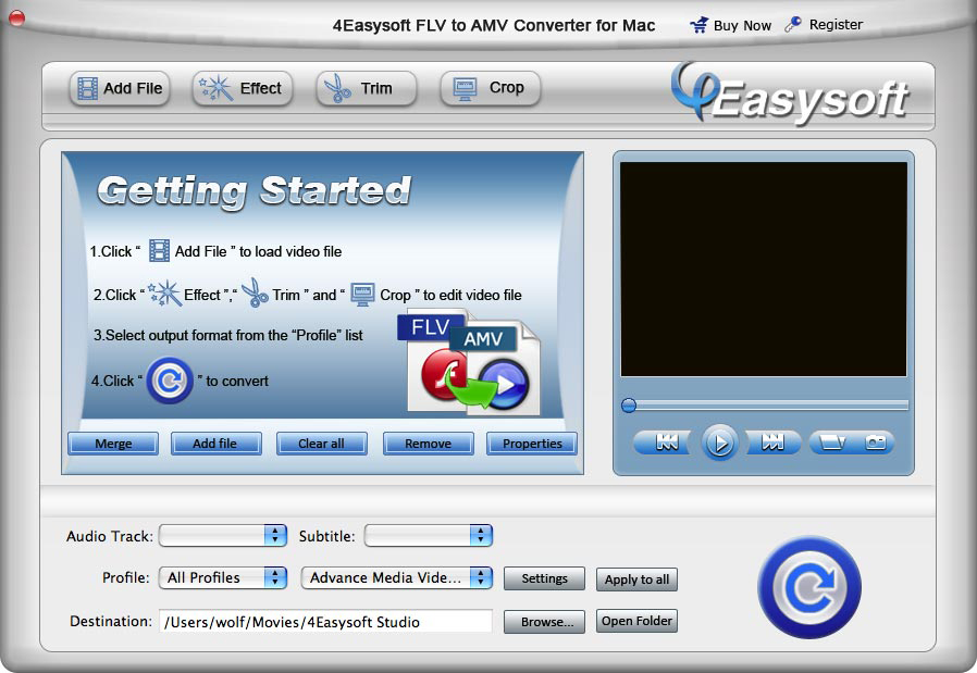 It a professional Mac FLV to AMV converter.