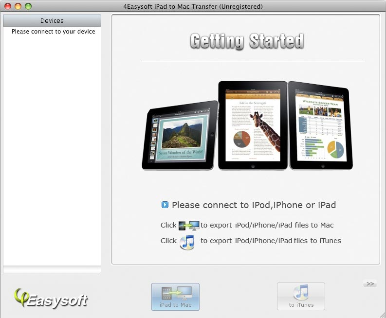 Screenshot of 4Easysoft iPad to Mac Transfer 3.1.22