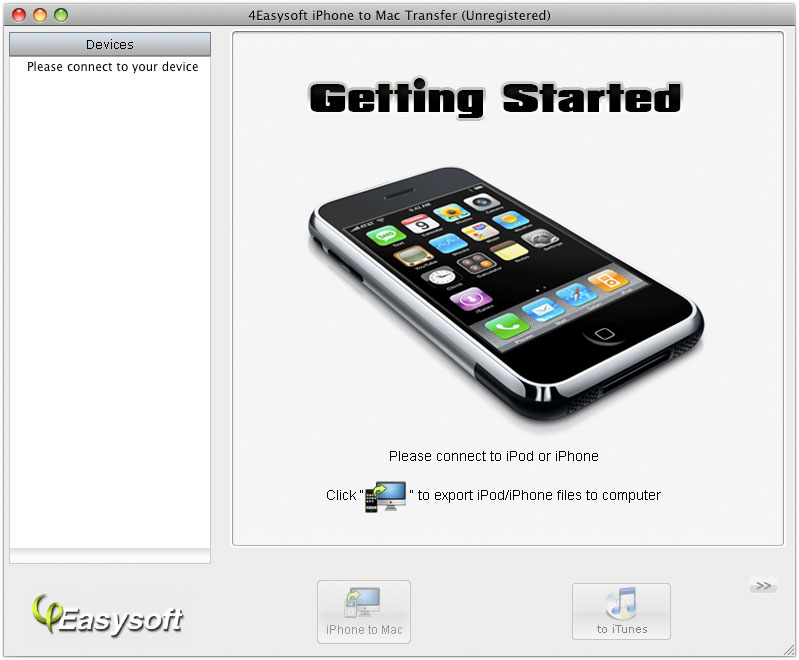 4Easysoft iPhone to Mac Transfer Screen shot