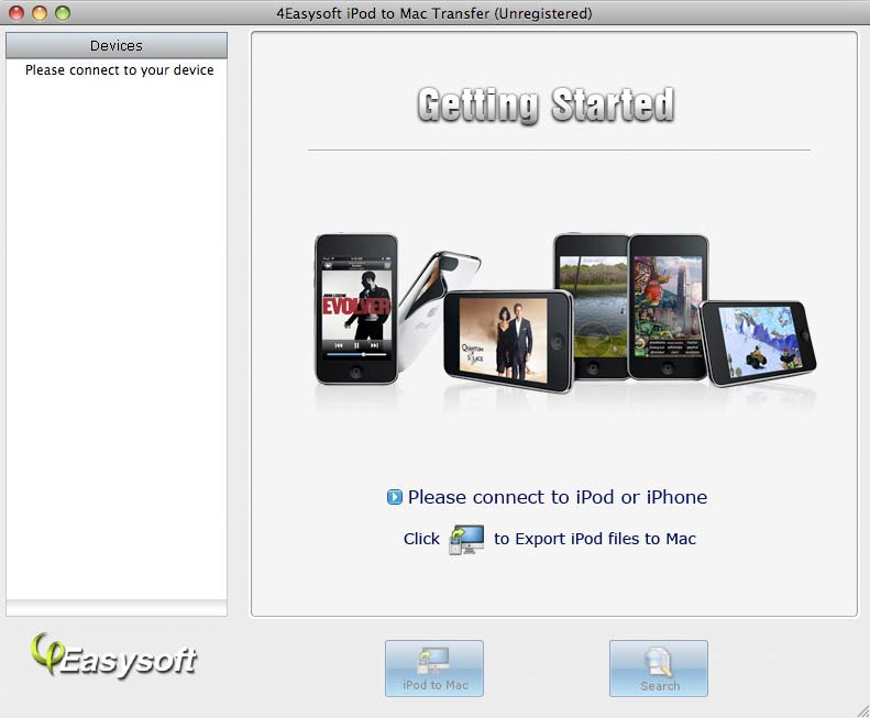 Click to view 4Easysoft iPod to Mac Transfer screenshots