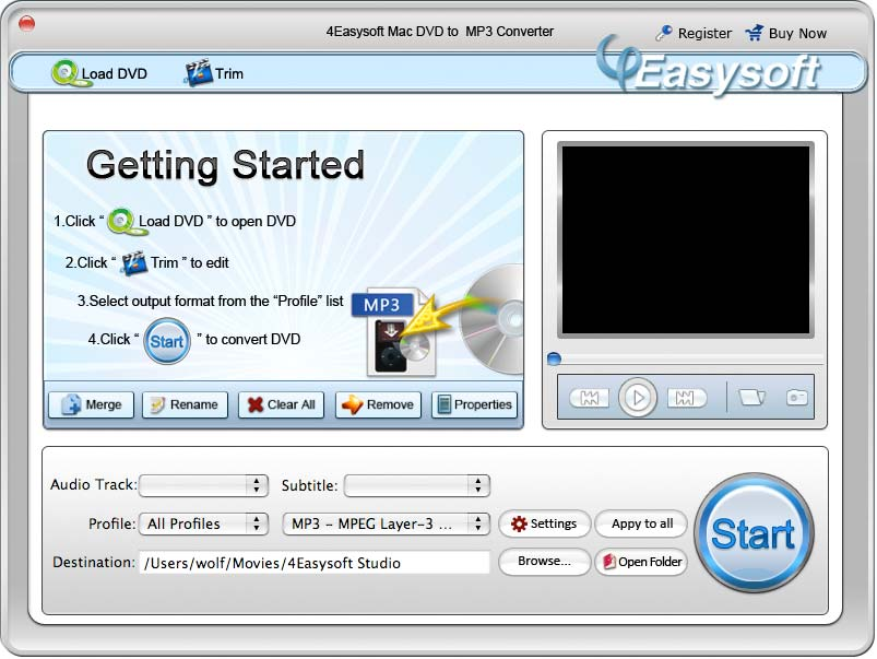 4Easysoft Mac DVD to MP3 Converter, DVD to MP3 Converter for