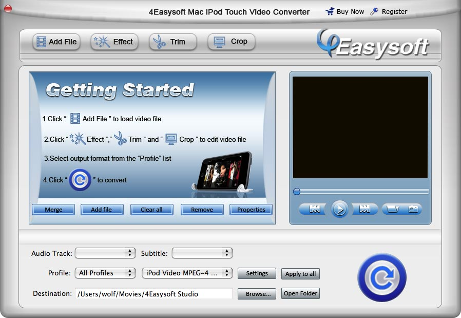 Easy to operate Mac iPod touch Video Converte