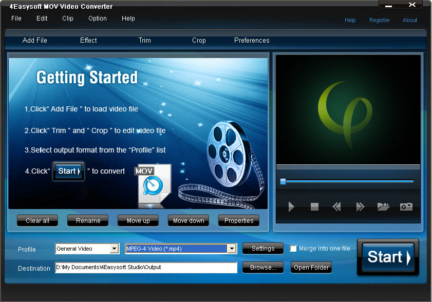 Screenshot of 4Easysoft MOV Video Converter