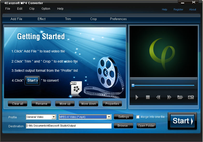 4Easysoft MP4 Converter Screenshot