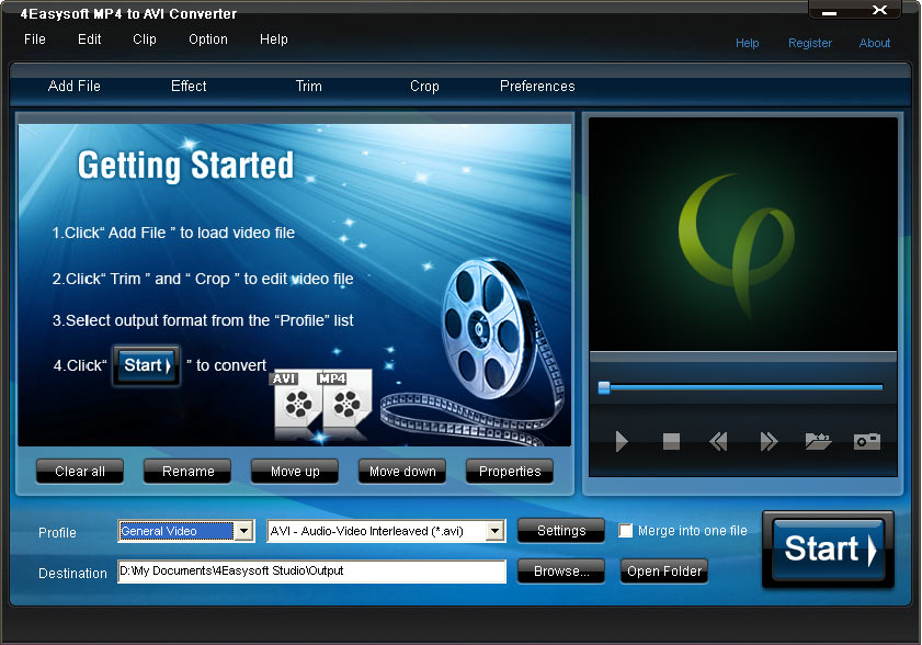 4Easysoft MP4 to AVI Converter Screen shot