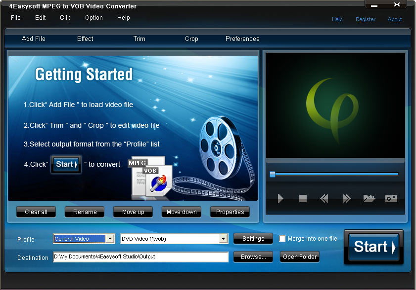 Click to view 4Easysoft MPEG to VOB Video Converter 3.1.18 screenshot