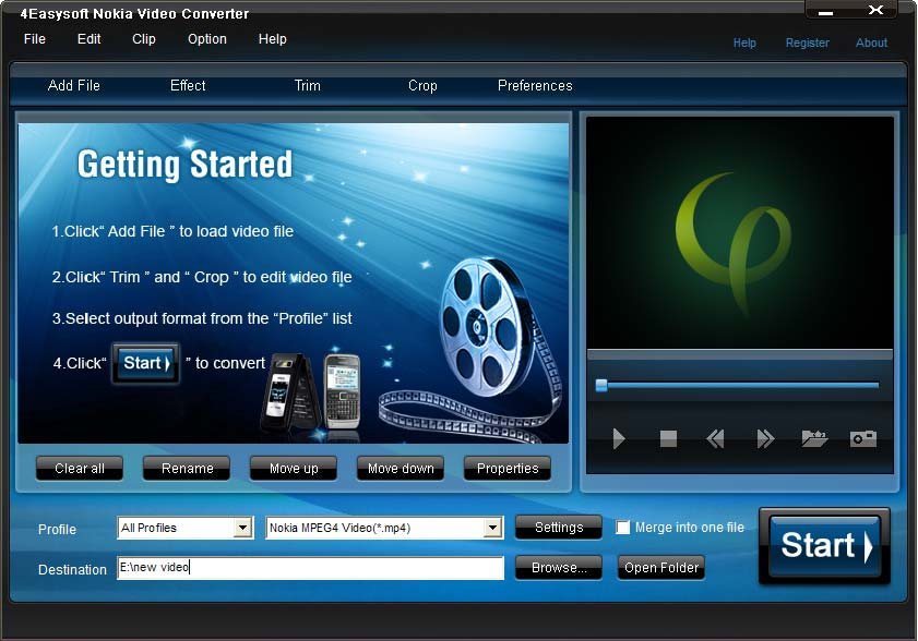 Click to view 4Easysoft Nokia Video Converter 3.3.30 screenshot