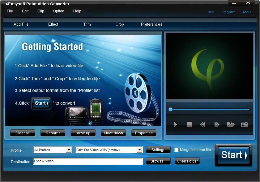 Click to view 4Easysoft Palm Video Converter screenshots