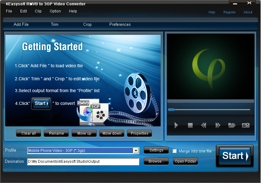 4Easysoft RMVB to 3GP Video Converter screenshot