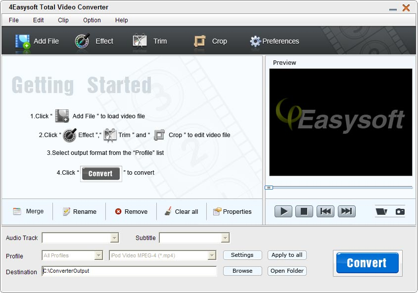 Click to view 4Easysoft Total Video Converter screenshots