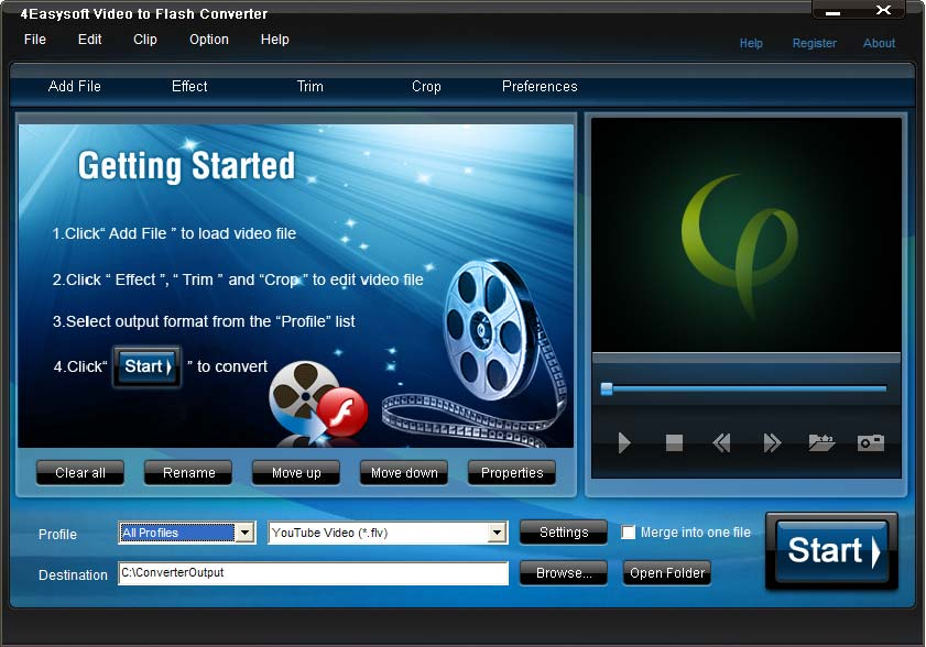 Click to view 4Easysoft Video to Flash Converter screenshots