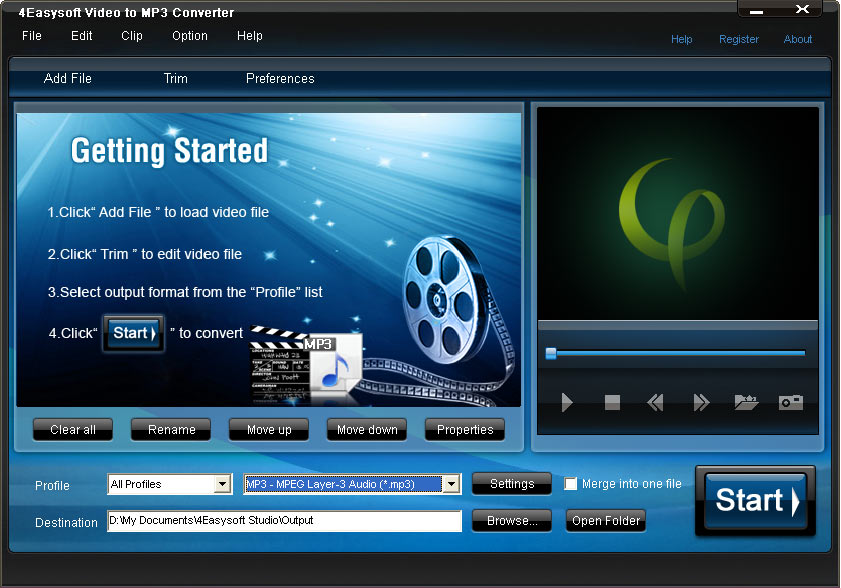 4Easysoft Video to MP3 Converter screenshot