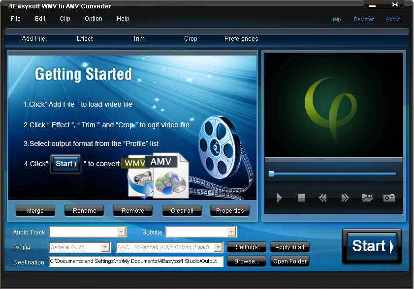 Click to view 4Easysoft WMV to AMV Converter screenshots