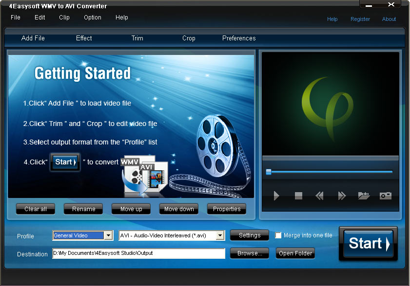 Click to view 4Easysoft WMV to AVI Converter screenshots