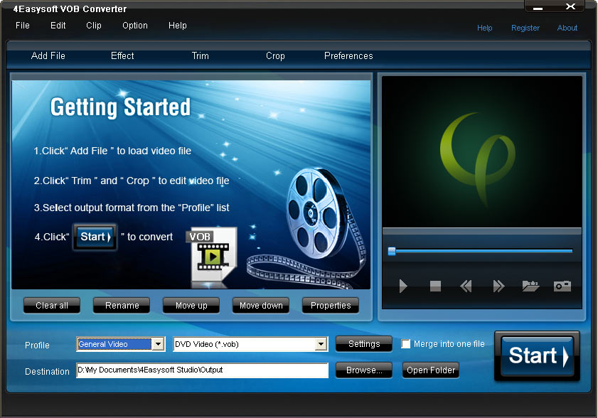 Click to view 4Easysoft VOB Converter screenshots